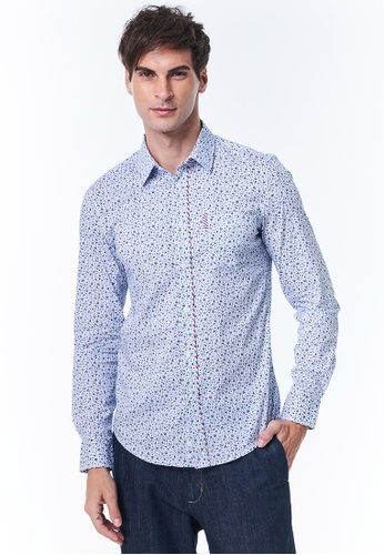 United Colors of Benetton blue Marinière Pattern Shirt 71AB5AA73C1A49GS_1