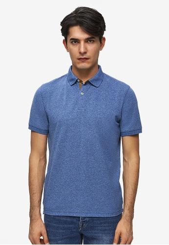 Spain Suede Detail Short Sleeve Polo Shirt