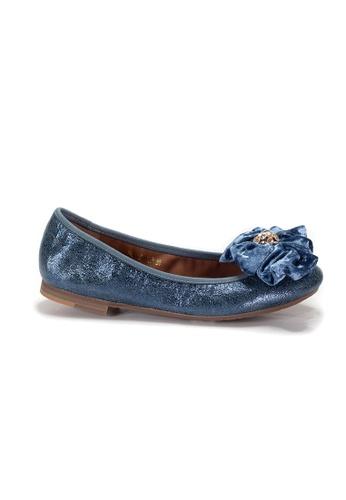 Shu Talk 藍色 LeccaLecca 真皮蝴蝶結芭蕾舞款平底鞋 DED01SH616878AGS_1