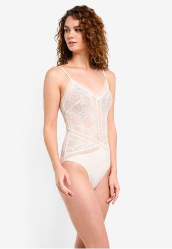 Calvin Klein white Black Endless Bodysuit - Calvin Klein Underwear CA221US0RPA3MY_1