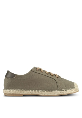Something Borrowed green Sneakers with espadrille soles C2937SH50F4D32GS_1