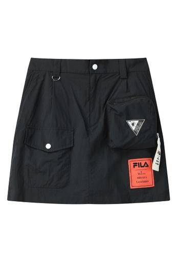 FILA black FILA x Maison MIHARA YASUHIRO Logo Cargo Skirt 79C09AA429D954GS_1