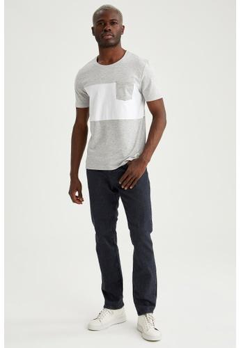 DeFacto grey Short Sleeve Round Neck T-Shirt 29E68AA63B934DGS_1