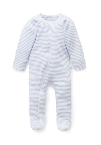 Purebaby blue Zip Growsuit 97359KAAD8D789GS_1