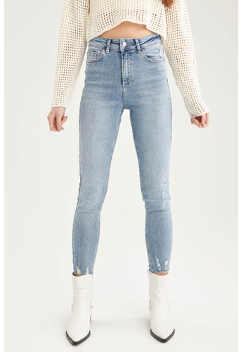 DeFacto blue High Waist Skinny Jeans 157CCAAC6F6AD1GS_1