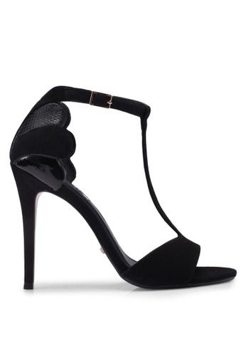 Dune London 黑色 T字帶繞踝高跟鞋 22BDESH2D01DA8GS_1