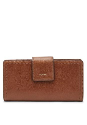 788ff0c814 Fossil brown Logan Clutch Bag SL7830200 FD18BAC746D03AGS 1