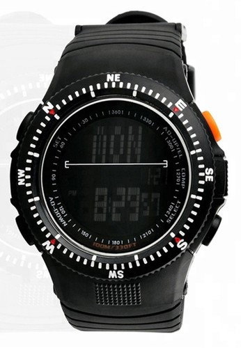 Digitec black Skmei - Jam Tangan Pria - Black - Resin Strap - 0989-D C1B47AC3F57B52GS_1