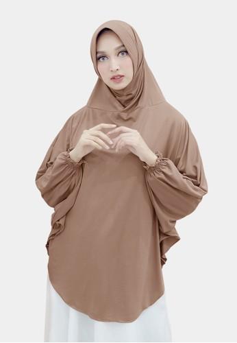 zelena brown Hijab Bergo Lengan Shara - Milochoco 57C22AAF145CAEGS_1