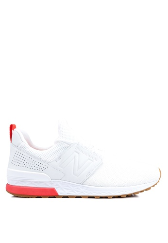 New Balance white 574 Lifestyle Shoes A0191SH93AFDE0GS_1
