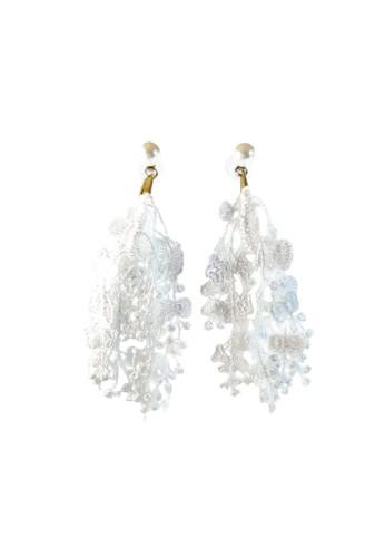 La Miina white Isidore White Earrings 6399BAC6186ABCGS_1