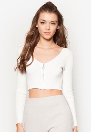 拉鍊短版長袖衫, 服飾, esprit香港門市外套