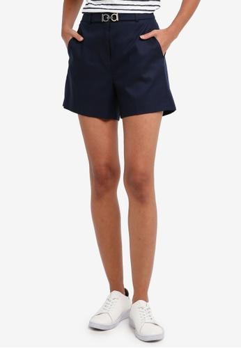 ESPRIT navy Woven Shorts 1B1C1AA0DB0004GS_1