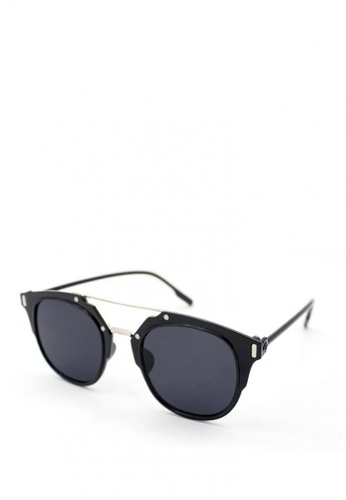 Peculiar and Odd black Round Retro Avi Styled 15705 Trans Lens Sunglasses B7C3DGLEC00938GS_1