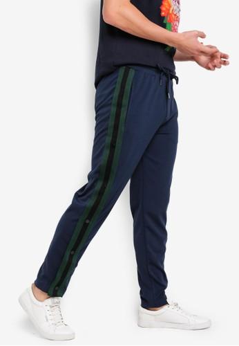 Brave Soul navy Snap Jogger Pants 3C51FAAC3AEF85GS_1