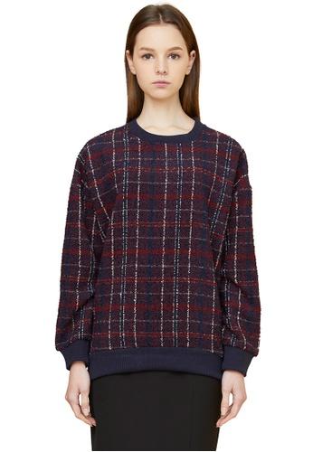 MILLOGREM red Oversized Plaid Sweatshirts MI241AA0GE6JSG_1