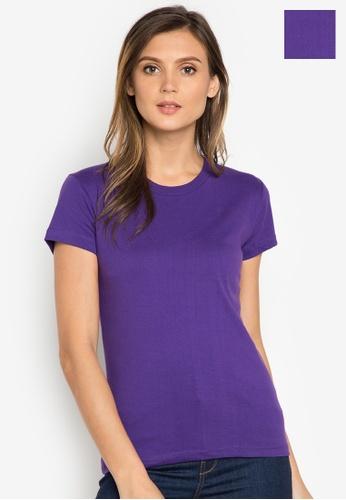 Organic purple Round Neck 2 in 1 Shirt OR165AA0J28EPH_1