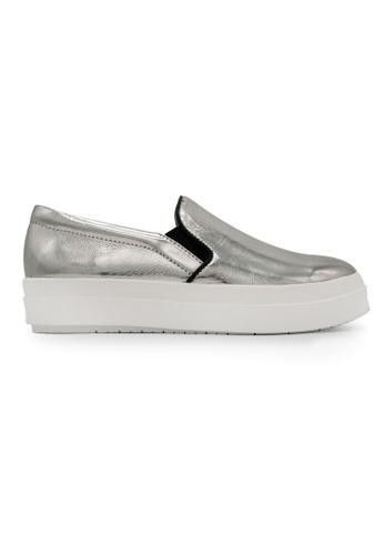 Gripz silver Camden Round Toe High Platform Loafers D0637SHA7990CFGS_1