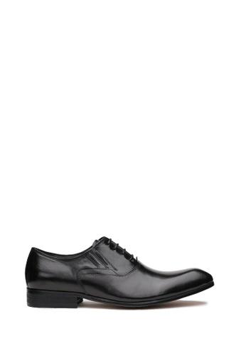 Kings Collection 黑色 布魯克納真皮皮鞋 DFEE2SHD95F5ABGS_1