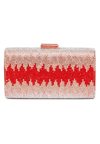 The Chic Initiative red Nerissa Crystal Clutch (Red) 965D7ACC55741DGS_1