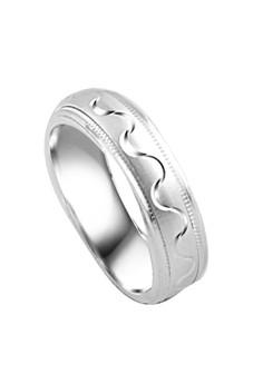 Zigzag Curve Couple Ring