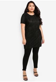 549ce2a560 Dorothy Perkins Plus Size Black Plisse Tunic Top S  69.90. Sizes 18 20 22 24