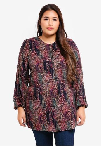 BYN purple Plus Size Muslimah Blouse 551A0AAEC5A683GS_1