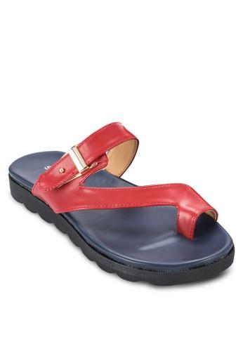 夾趾扣環esprit taiwan涼鞋, 女鞋, 涼鞋