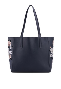 Dorothy Perkins Navy Embroidered Side Shopper Bag RM 159.00. Sizes One Size