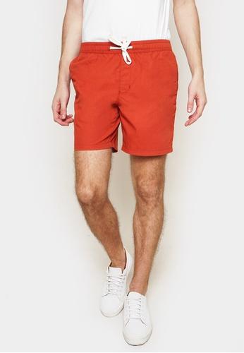 Penshoppe orange Modern Fit Shorts 129CBAA2770C8EGS_1