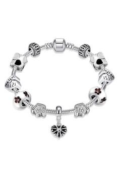 H034 Korea Fashion Love Heart Enamel & Crown Shape DIY Bracelet