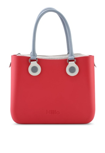 Hoola Hoola pink Alma Tote Classic - Pink Punch with Slate & Snow handles 0A5D3AC10A6931GS_1