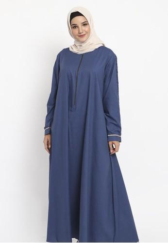 Allev navy Asy-sya' Dress - Navy 1C0B4AA582AC4AGS_1