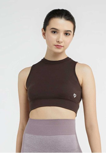 FITWEAR brown FITWEAR - CROPTOP ALICE TIE - BROWN 2765FAAAF60600GS_1