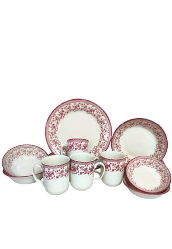 Claytan Aster Pink 16 PCS Dinner Set 72737HL83D0197GS_1