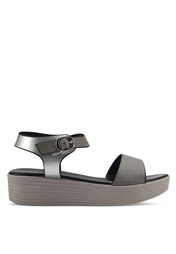 Spiffy silver Casual Wear Platform Sandals SP352SH0SRX7MY_1
