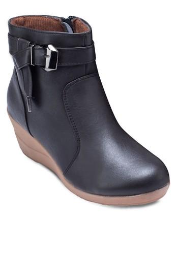 Ara 扣環帶楔形低esprit 品牌筒靴, 女鞋, 鞋