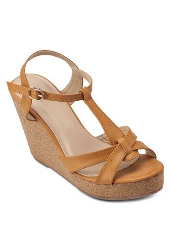 zalora 手錶 評價交叉帶楔形跟涼鞋, 女鞋, 楔形涼鞋