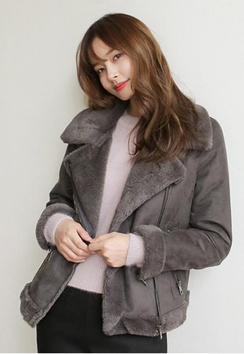 碳色麂皮絨大衣,esprit causeway bay 服飾, 夾克 & 大衣