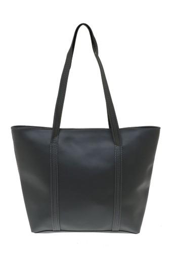Evernoon grey Kyla Tote Bags Woman Plain Design Simple Tas Wanita Casual Premium Quality - Abu 9EB47AC56724EBGS_1