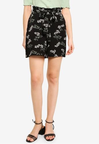 Vero Moda black Saga High Waist Long Shorts 2A67BAA24BA0E5GS_1