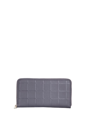 Dazz grey Calf Leather Cube Wallet - Grey DA408AC50KNDMY_1