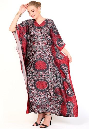Kanzi by liza yahya black and red Kanzi Exclusive Short Sleeve Batik Red Black 87C05AA8368B8FGS_1