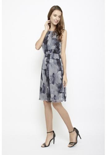 Sophialuv multi Shine Bright like a Flower Halter Neck Midi Dress in Monochrome A4D51AA1E1F689GS_1