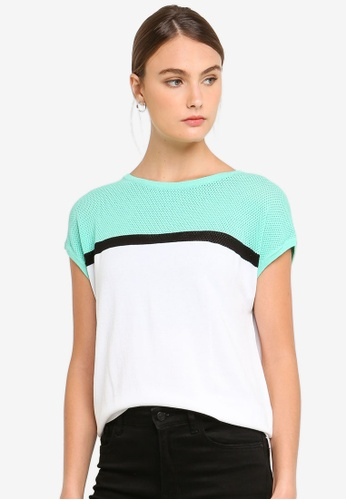 17bf5c352a0 Buy Armani Exchange Colour Block Top Online on ZALORA Singapore