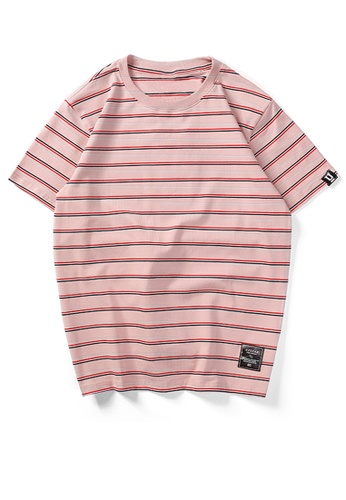 HAPPY FRIDAYS Loose Contrast Stripe T-shirt UP738 5677FAA8787CC5GS_1