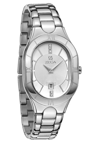 ZECA silver Zeca Watches Ladies Fashion Stainless Steel Analog - 157L Silver C964DAC4A6DD79GS_1