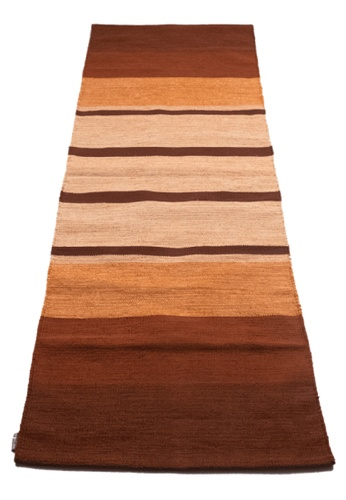 Karyaful red and orange and multi and brown Tanah Handloom Cotton Yoga Rug by Karyaful 26B2BSE9DDF766GS_1