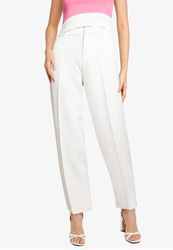 URBAN REVIVO white Straight Leg Trousers F42FDAA28E1388GS_1