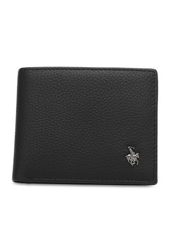 Swiss Polo black Genuine Leather Rfid Short Wallet FAEA8ACFE8B34FGS_1